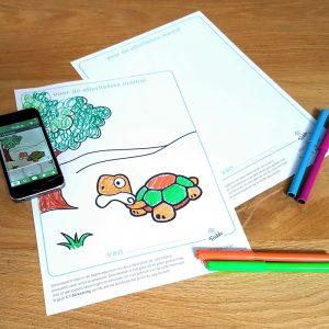 kleurplaat en de friddo app